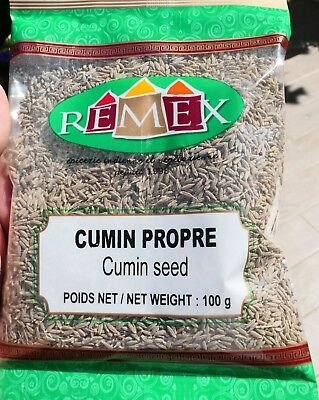 100g  Épice CUMIN  seeds spice epice cuisine traditionelle Indienne Mauricenne