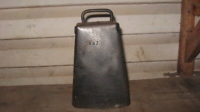 Vintage Galvanized Metal Large Cow Bell