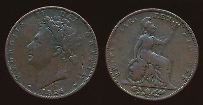 1826 George IV.....FARTHING - 2nd Issue.......Fast Post