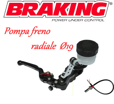 BRAKING KIT POMPA FRENO RADIALE NERA RS 19mm TRIUMPH SPEED TRIPLE 1050 R/RS/S 18