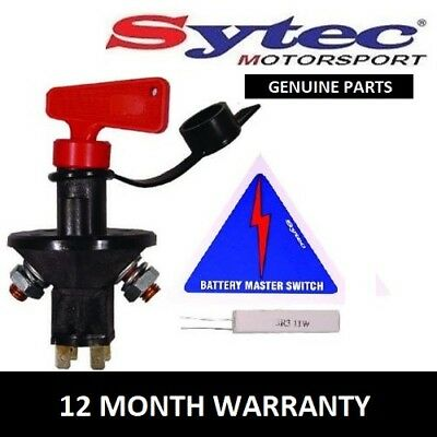 Genuine Sytec Full Fia Approved Battery Master Cut Off Kil Switch Kit 90 Amp