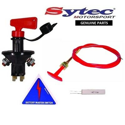 Genuine Sytec Full Fia Approved Battery Master Cut Off Kil Switch + T-Pull Cable