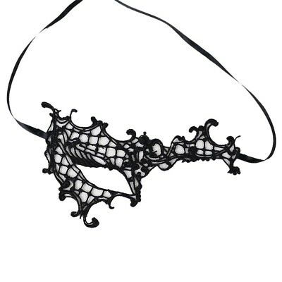 Gothic Steampunk Party Costume Venetian Masquerade LACE EYE//FACE MASK White #z