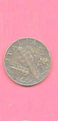ITALY ITALIAN KM74a 1940 VF-VERY FINE-NICE OLD ANTIQUE WWII 10 CENTESIMI COIN