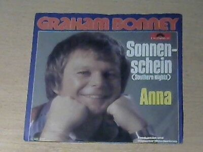 "7"" GRAHAM BONNEY * Sonnenschein (MINT-) Southern Nights deutsche Coverversion"