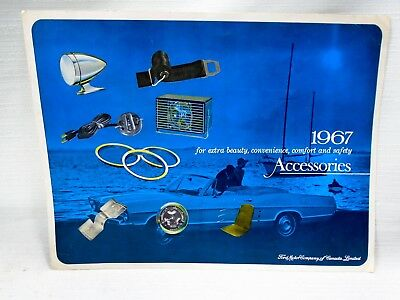 Advertising Brochure 1967 Ford Factory Accessories Catalog With Prices