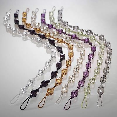 Tiffany Beaded Curtain Tie Backs Crystal Gem Glitz Effect Rope Voile Hold Backs