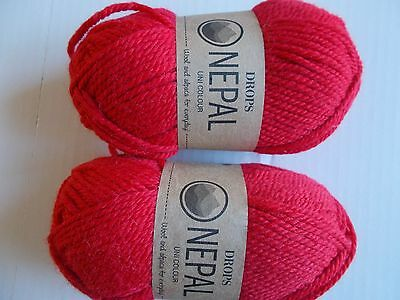 Turquoise 183 yds ea lot of 2 Drops Alpaca Uni Colour 100/% alpaca yarn