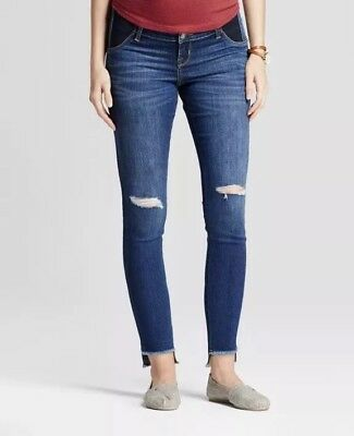 Ingrid & Isabel Maternity Ripped Jeans Skinny Inset Panel Target 6 SOLD OUT