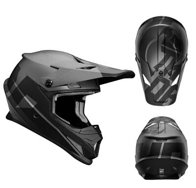 Thor Crosshelm Sector Level Motocross Enduro MX Helm matt schwarz grau Gr. L