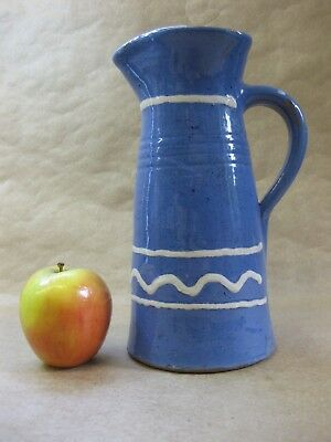 Clay Pits Ewenny (Wales) ~ Antique Tapered Jug ~ Blue with Slip Decoration
