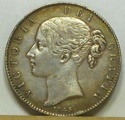 Great Britain Crown 1845 Very Fine NO RESERVE
