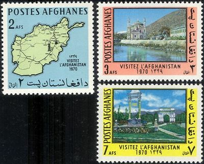 Afghanistan 1970 Mosque/Arch/Tourism/Maps/Buildings/Heritage 3v set (n29368)