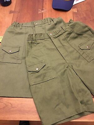 Boy Scout Shorts Youth 16 Waist 28 LOT 2 Pairs F303