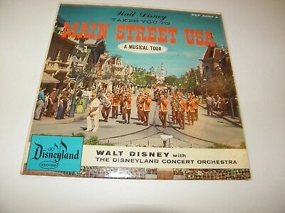 Disneyland DEP 4004 A Main Street USA Musical Tour 1956 Picture Sleeve Only EXC+