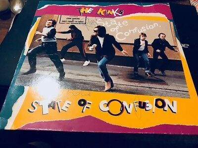 The Kinks--State Of Confusion--1983--Lp Vinyl--Handsigned By The Whole Band