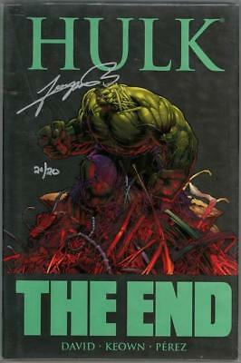Hulk The End Hc Dynamic Forces Signed George Perez Df Coa Ltd 20 Marvel Comics