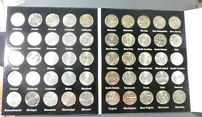 1999 - 2008 50 States Commemorative Quarters Set In Album Free Ship!!
