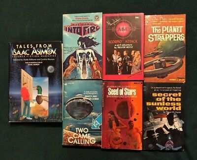 Lot Of Science Fiction 6 Vintage Paperbacks, One Hardcover Isaac Asimov Plus