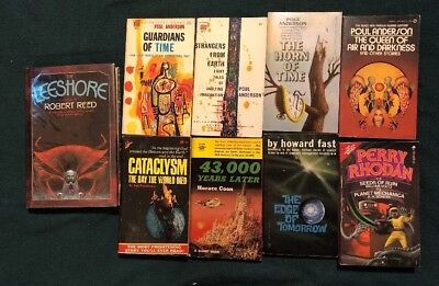 Lot Of Science Fiction 8 Vintage Paperbacks, One HC Poul Anderson Perry Rhodan +