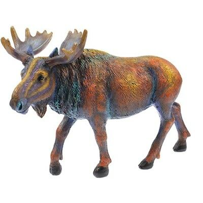 Multi Color Moose Statue Figurine 8 Inch