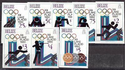 Belize MiNr. 501-08 B postfrisch/ MNH Olympiade 1980 Lake Placid (Oly1099