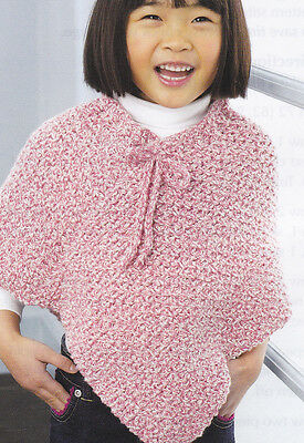 Crochet Pattern Little Girls Poncho Instructions 249 Picclick