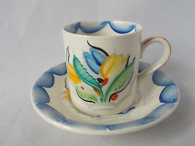 Grays Pottery 1928 Art Deco Cup And Saucer Pattern 8037 By Susie Cooper