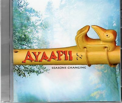 Ayaapii - Seasons Changing (2005 CD) Authentic Cedar Flute And Hand Drums (New)