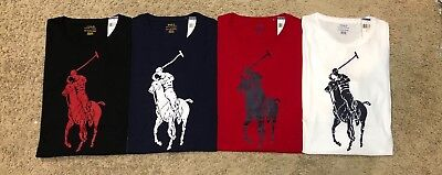 New Polo Ralph Lauren T Shirt Big Pony High Quality Tee Mens Classic Fit