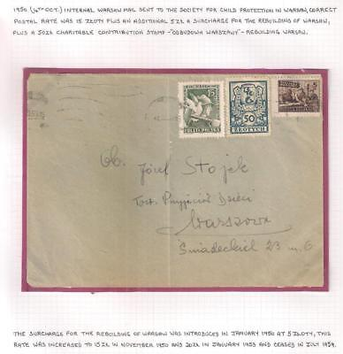 Pol501959 POLAND Internal Warsaw Mail Child Protection in Warsaw