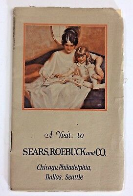1924 Illustrated Booklet A Visit to Sears Roebuck and Company Fold - Out Pages