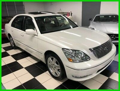 2004 Lexus LS 430 -ONLY 47K MILES - ONE OWNER - CERTIFIED CARFAX PROBABLY THE NICEST LS ANYWHERE  - PEARL WHITE OVER LIGHT GREY