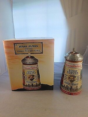 2004 Anheuser-Busch Famous Outlaws Series Stein Jesse James 1991/15000