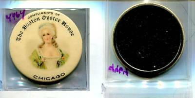 Boston Oyster House Chicago Woman Vintage Advertising Mirror 4664L