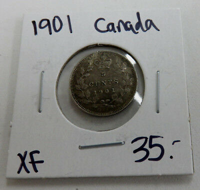 1901 Canadian 5 cent XF