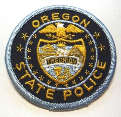 """Old Oregon State Police 3"""" Patch Unused"""
