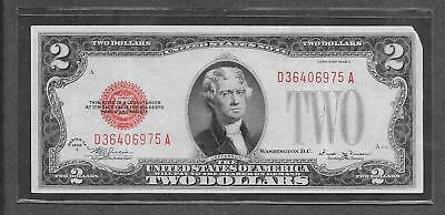 1928 E RARE - $2 EF Red Seal Legal Tender Note