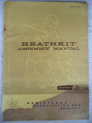 Heathkit Assembly Manual for Model IN-12 Resistor Substitution Box
