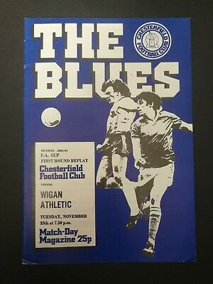 CHESTERFIELD 1980/81 v Wigan Athletic (FA Cup 1 Replay)