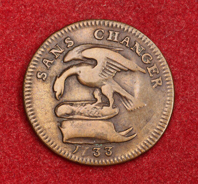 1733, Isle of Man (British Dependency), Lord James Murray. Copper ½ Penny Coin.