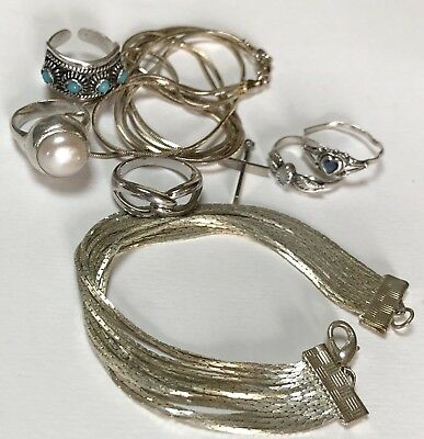 Sterling Silver .925 Jewelry SCRAP or Not  mixed Lot