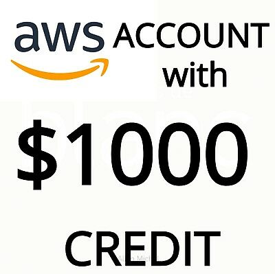 Aws accounts with $1000 credits