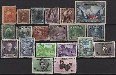 El Salvador - Nice Lot of all different old Stamps!