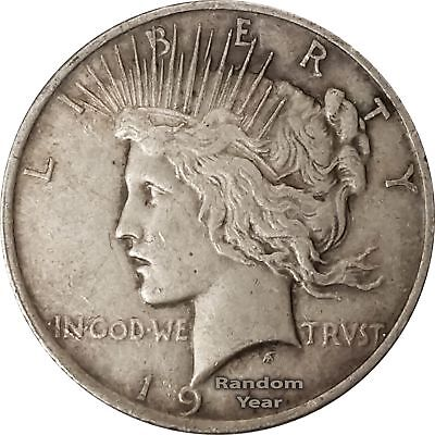 One Peace Silver Dollar VG 1922-1926 P//D//S 90/% Silver