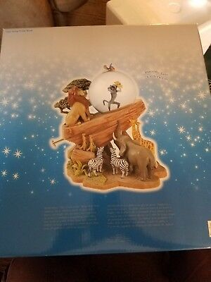 Disney Store Lion King Pride Rock Circle of Life Musical Snowglobe Sealed in Box