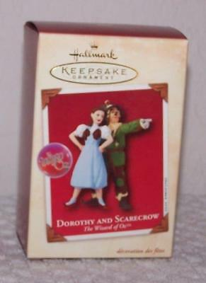 2002 Hallmark Ornament - Wizard of Oz - Dorothy and Scarecrow