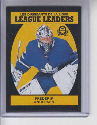 18/19 OPC Toronto Maple Leafs Frederik Andersen Black LL card #598 Ltd #93/100