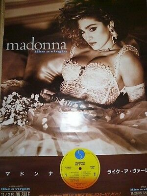 MADONNA - LIKE A VIRGIN : JAPAN promo-only POSTER 1984 : not CD / very rare
