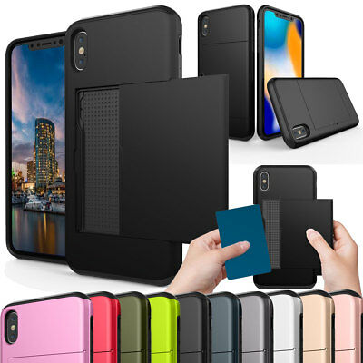 For Apple iPhone Xs / Xs Max / XR 2018 Phone Case with Credit Card Pocket Holder